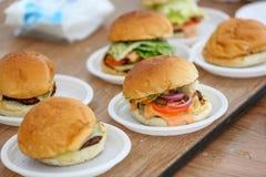 汉堡格栅餐馆菜单 库存图片