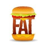 汉堡油脂概念 免版税图库摄影