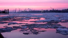 汉堡港口 免版税图库摄影