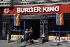 汉堡王庆祝哥本哈根自豪感 库存照片