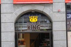 汉堡王快餐链子 库存图片