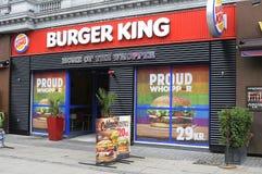 汉堡王把变成彩虹颜色 图库摄影
