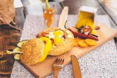 汉堡用烟肉 库存照片