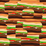 汉堡的无缝的样式 快速的foo的传染媒介例证 向量例证