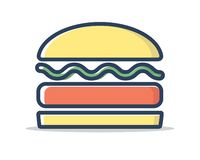 汉堡线被填装的象例证传染媒介 库存照片