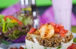 汉堡美食的沙拉素食者 免版税库存图片