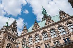 汉堡镇大厅-德国,汉堡 库存照片