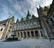 汉堡香港大会堂,德国 免版税库存图片