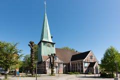 汉堡,圣陪替氏和圣保利队半木料半灰泥的教会  图库摄影