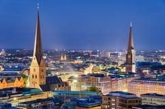 汉堡,德国地平线  库存图片