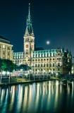 汉堡,德国市政厅 图库摄影