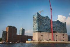 汉堡,德国- 2014年7月28日:Hafencity处所的看法 库存照片