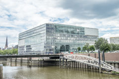 汉堡,德国- 2017年7月14日:德国广播电台ZDF的大厦位于接近 免版税库存图片