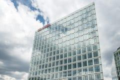 汉堡,德国- 2017年7月14日:明镜杂志办公室在汉堡位于接近著名Speicherstadt 免版税图库摄影