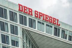 汉堡,德国- 2017年7月14日:明镜杂志办公室在汉堡位于接近著名Speicherstadt 图库摄影