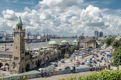 汉堡,德国- 2017年7月14日:St圣保利队码头,德语:St圣保利队Landungsbrucken,是一个汉堡` s少校 免版税图库摄影