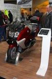 汉堡,德国- 1月26 : 在2013年1月26日的BMW摩托车在HMT (汉堡包Motorrad Tage)商展,汉堡,德国。 HMT 库存图片