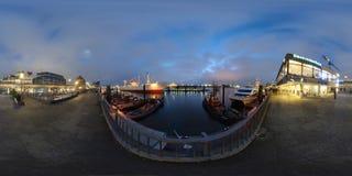 汉堡360度全景街道视图 免版税库存照片