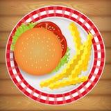 汉堡&炸薯条 图库摄影