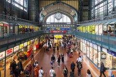 汉堡主要火车站 免版税图库摄影