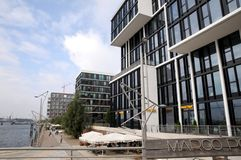 汉堡- marco马球terracen 免版税库存照片