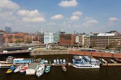 汉堡Baumwall都市风景 免版税库存照片