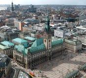 汉堡townhall 免版税库存图片
