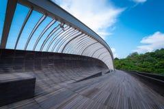 汉德尔逊在蓝天背景的波浪桥梁在白天在Singa 库存图片