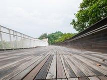 汉德尔逊挥动桥梁新加坡步行桥 免版税库存照片