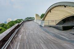 汉德尔逊波浪是最高的步行桥在新加坡 免版税图库摄影