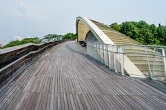 汉德尔逊波浪是最高的步行桥在新加坡 库存照片