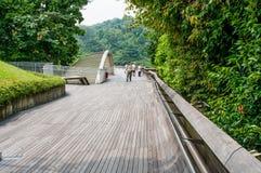 汉德尔逊波浪是最高的步行桥在新加坡 免版税库存图片