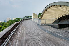 汉德尔逊波浪是最高的步行桥在新加坡 免版税库存照片