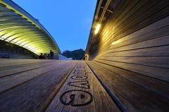 汉德尔逊波浪桥梁在新加坡 库存照片