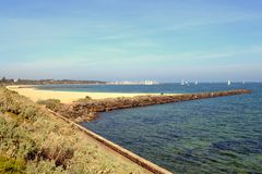 汉普顿海滩 库存照片