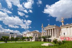 汉森三部曲,在雅典,希腊 免版税库存照片