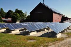 汉考克, MA :在振动器村庄的太阳电池板 免版税图库摄影