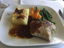汉莎航空公司工作晚餐 库存图片
