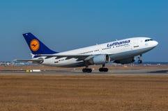 汉莎航空公司空中客车A310 库存照片