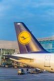 汉莎航空公司航空器的尾巴 免版税库存图片