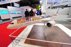 汉莎航空公司陈列它的MRO和客舱转换解答的Technik在新加坡Airshow 免版税库存照片