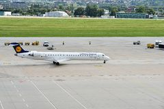 汉莎航空公司飞机 库存图片