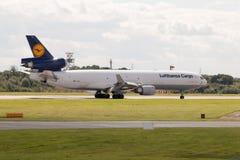汉莎航空公司货物MD-11 库存图片