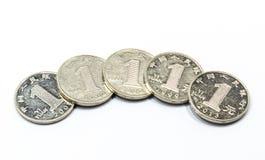 汉语一元硬币 免版税库存照片
