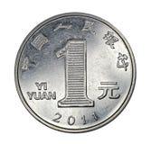 汉语一枚元硬币 库存照片