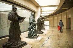 汉语亚洲,北京,中国千年纪念碑,雕象 免版税图库摄影