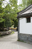 汉语亚洲,北京,北海公园,古色古香的大厦,树,路 库存照片