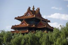 汉语古老的大厦 免版税图库摄影