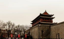 汉语古老的大厦 免版税库存图片