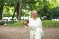 汉语执行外部taichi 库存照片